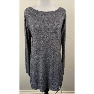Athleta Luxe Pose Top speckled black pattern S
